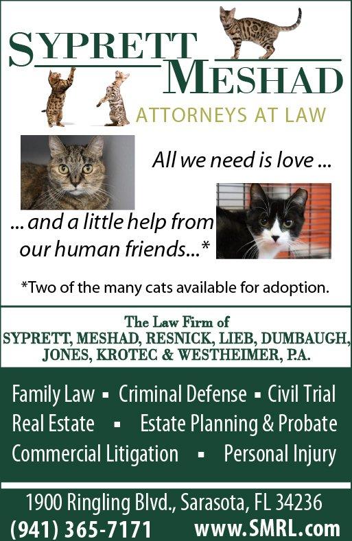 Syprett Meshad Sponsors Cat Depot Fundraising Event Cat