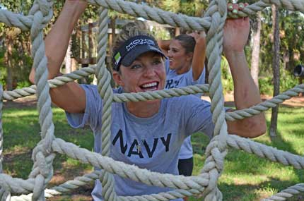 Syprett Meshad Supports Veterans Via GreenZone Event Navy smile