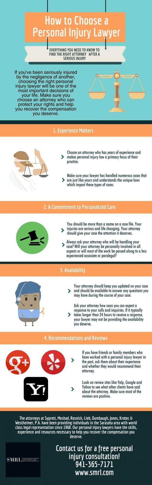 How to Choose a Personal Injury Lawyer (Infographic) choosing a personal injury lawyer infographic