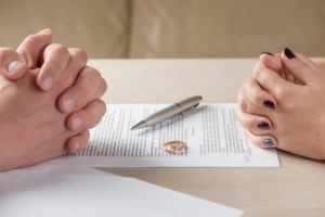 Spouses working with divorce attorney in Florida