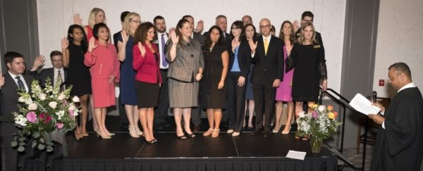 Nancy Cason Installed as President of Sarasota County Bar group photo Small 0