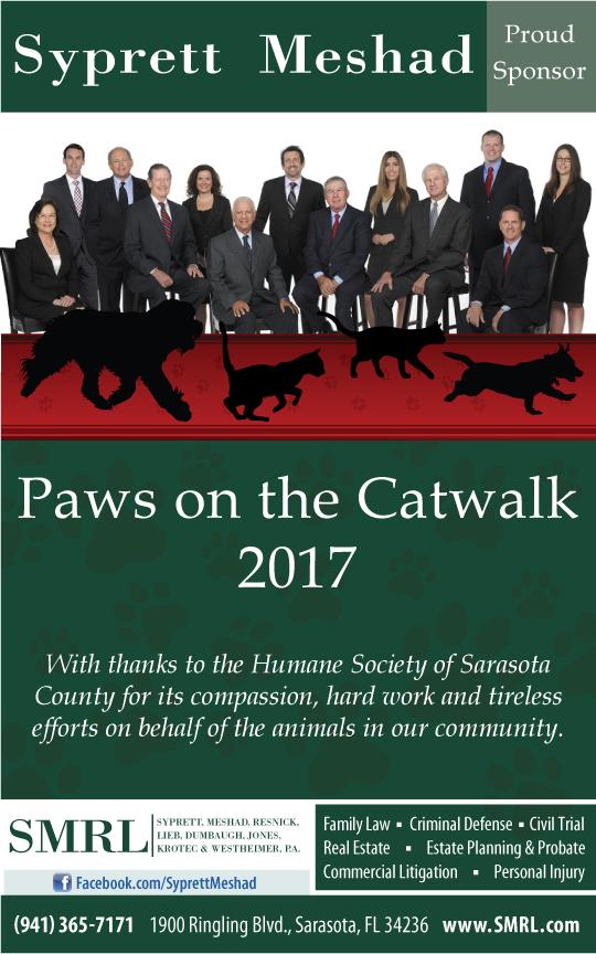Humane Society of Sarasota Paws on Catwalk 2017 group